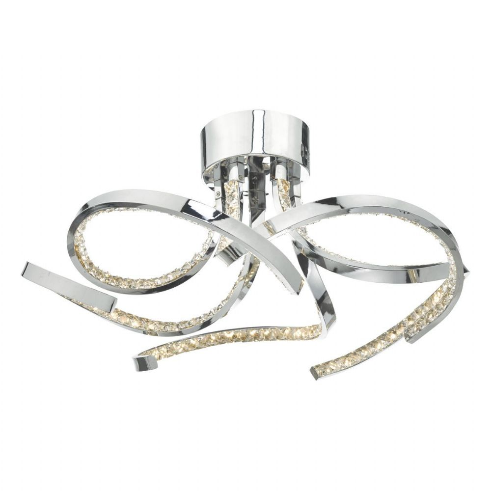 Zya 5lt Flush Polished Chrome & Crystal LED (double insulated) BXZYA5450-17